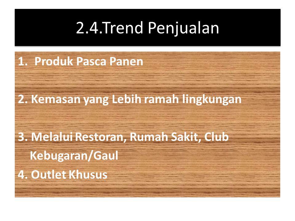 2.4.Trend Penjualan Produk Pasca Panen