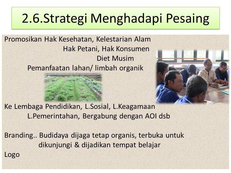 2.6.Strategi Menghadapi Pesaing
