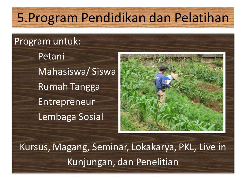 5.Program Pendidikan dan Pelatihan