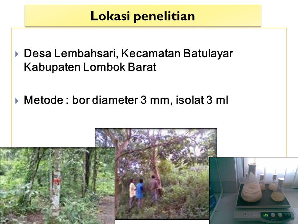 Lokasi penelitian Desa Lembahsari, Kecamatan Batulayar Kabupaten Lombok Barat.