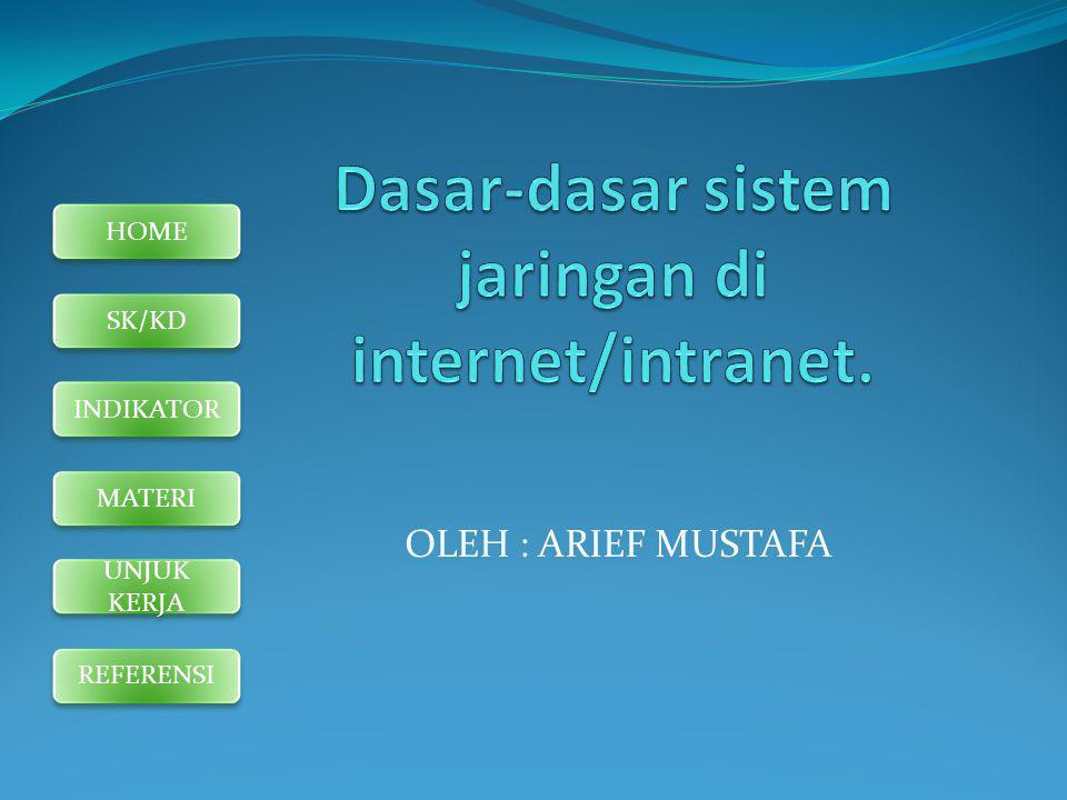 Dasar-dasar sistem jaringan di internet/intranet.