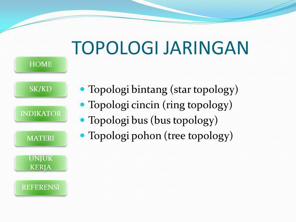 TOPOLOGI JARINGAN Topologi bintang (star topology)