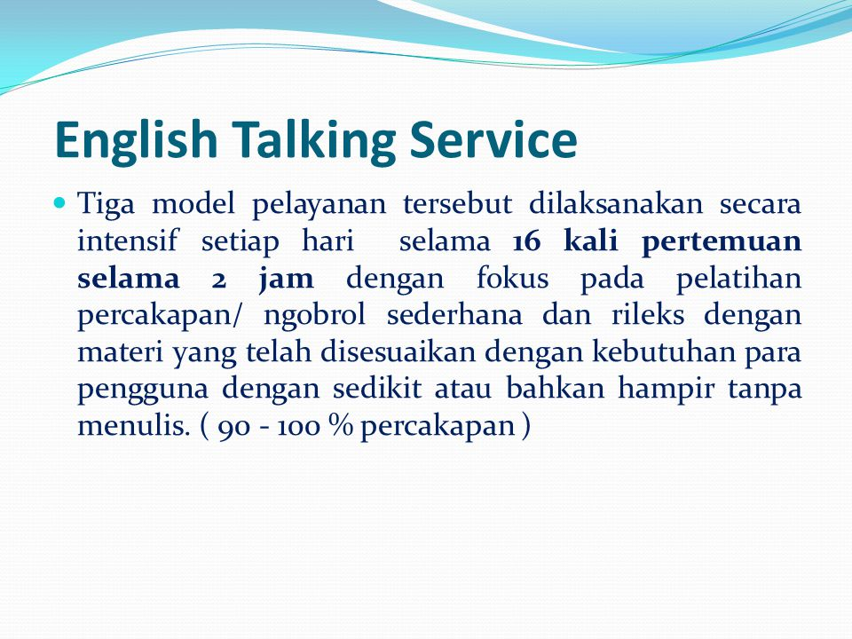 English Talking Service