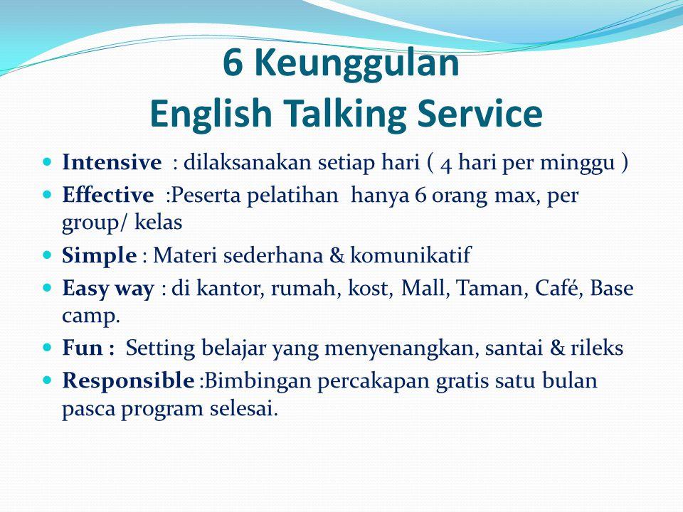 6 Keunggulan English Talking Service