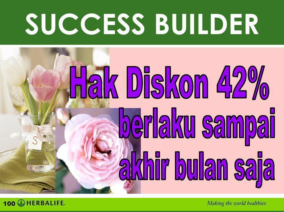 SUCCESS BUILDER SUCCESS BUILDER Hak Diskon 42% berlaku sampai
