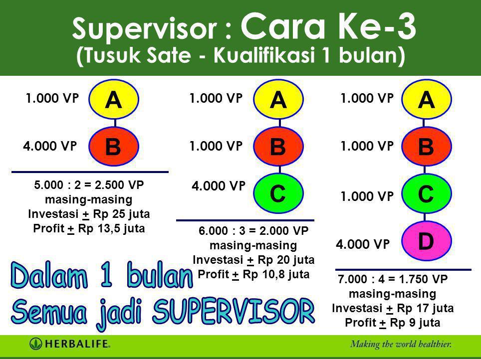 Supervisor : Cara Ke-3 (Tusuk Sate - Kualifikasi 1 bulan)