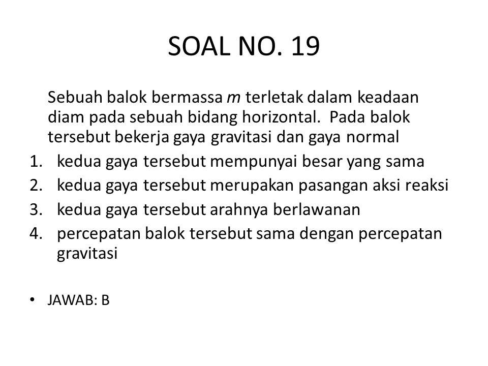 SOAL NO. 19