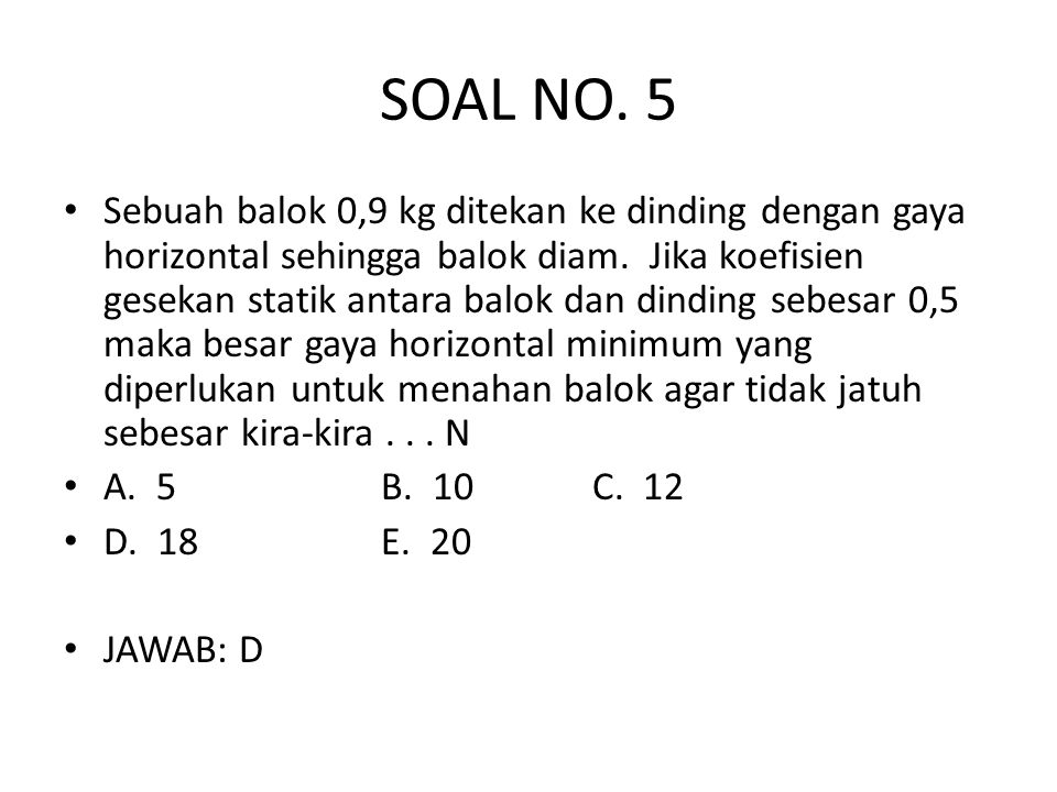 SOAL NO. 5