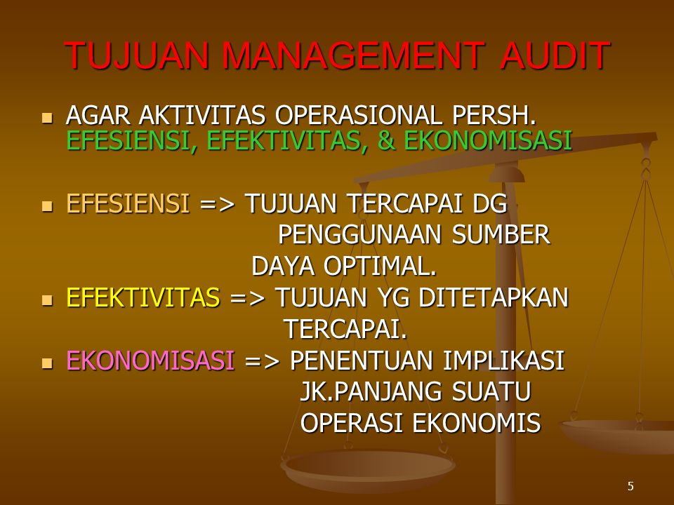 TUJUAN MANAGEMENT AUDIT