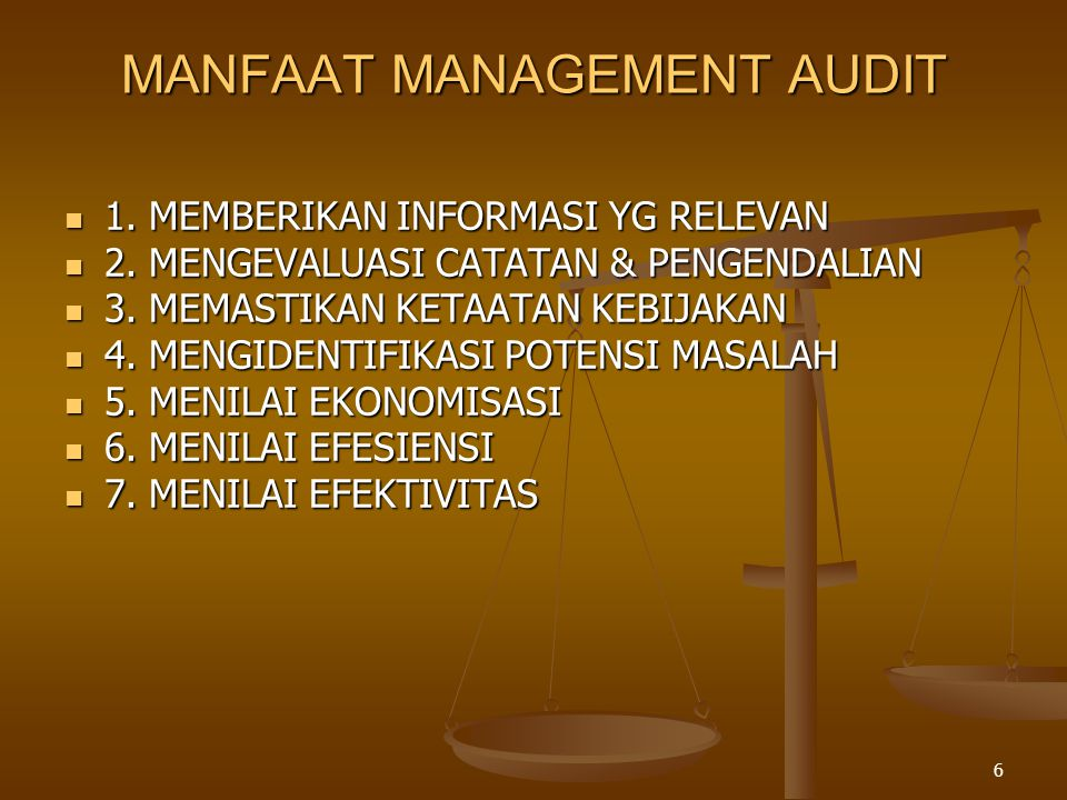 MANFAAT MANAGEMENT AUDIT