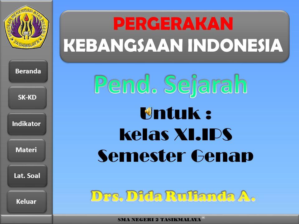 PERGERAKAN KEBANGSAAN INDONESIA