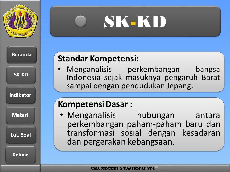 SK-KD Standar Kompetensi: Kompetensi Dasar :