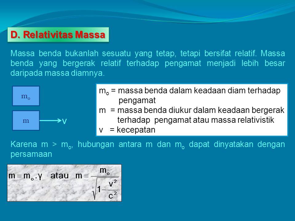 D. Relativitas Massa