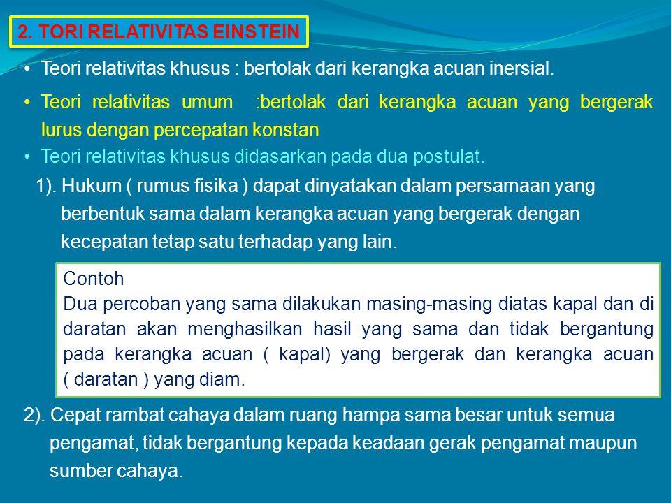 2. TORI RELATIVITAS EINSTEIN
