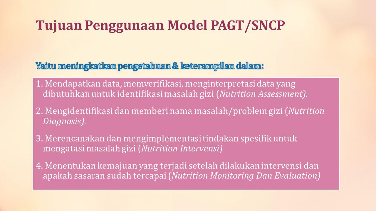 Tujuan Penggunaan Model PAGT/SNCP