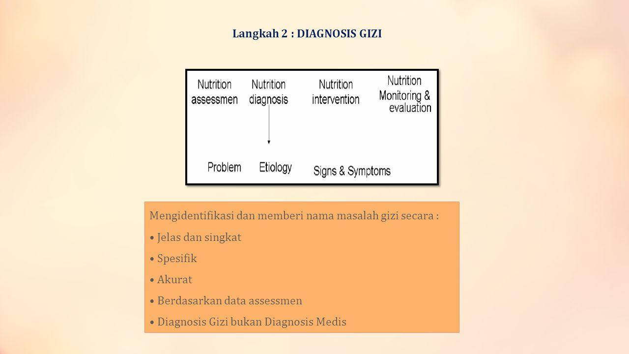 Langkah 2 : DIAGNOSIS GIZI