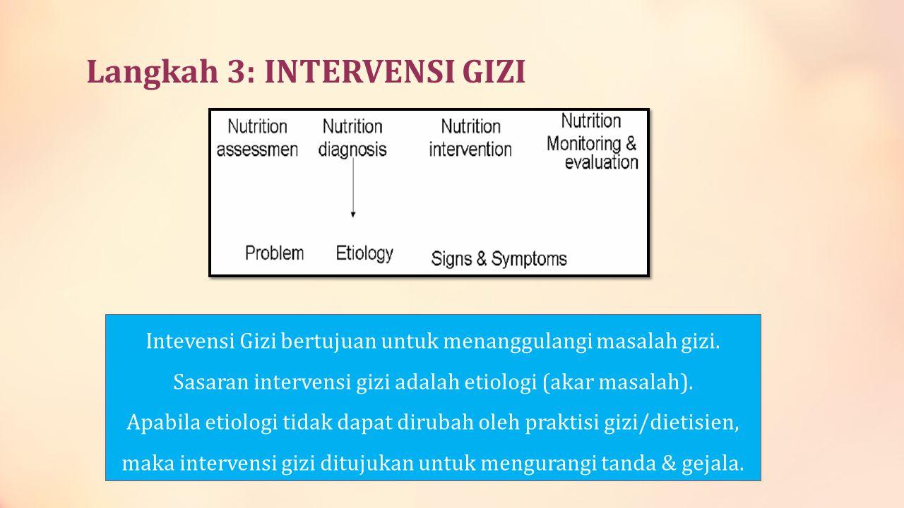 Langkah 3: INTERVENSI GIZI