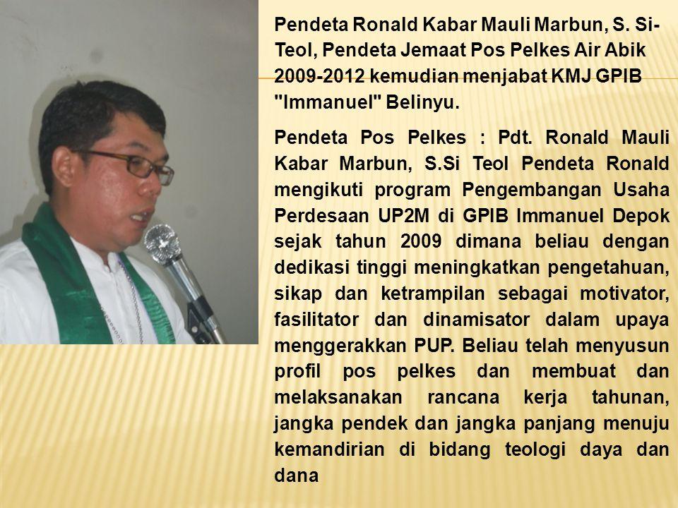 Pendeta Ronald Kabar Mauli Marbun, S
