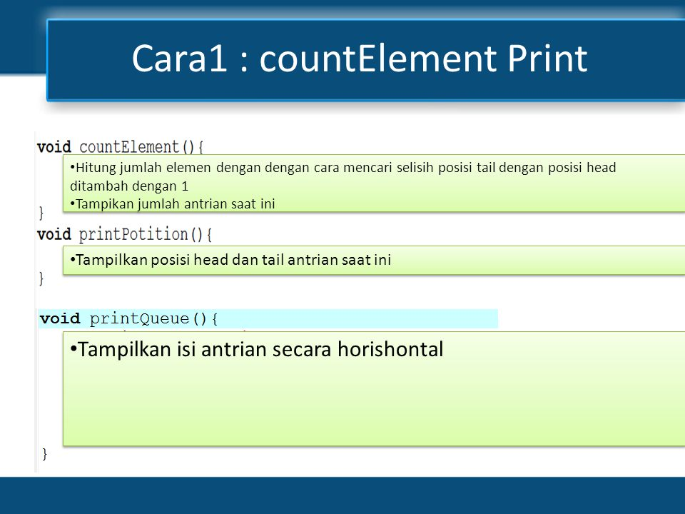 Cara1 : countElement Print