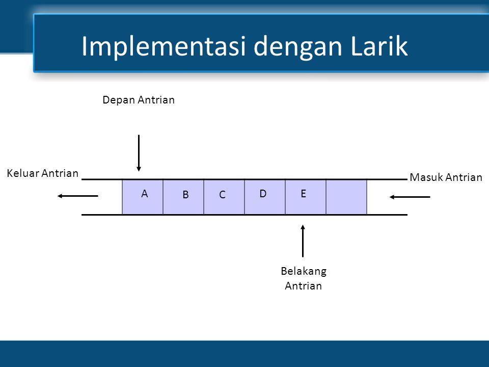 Implementasi dengan Larik