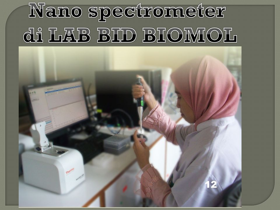 Nano spectrometer di LAB BID BIOMOL