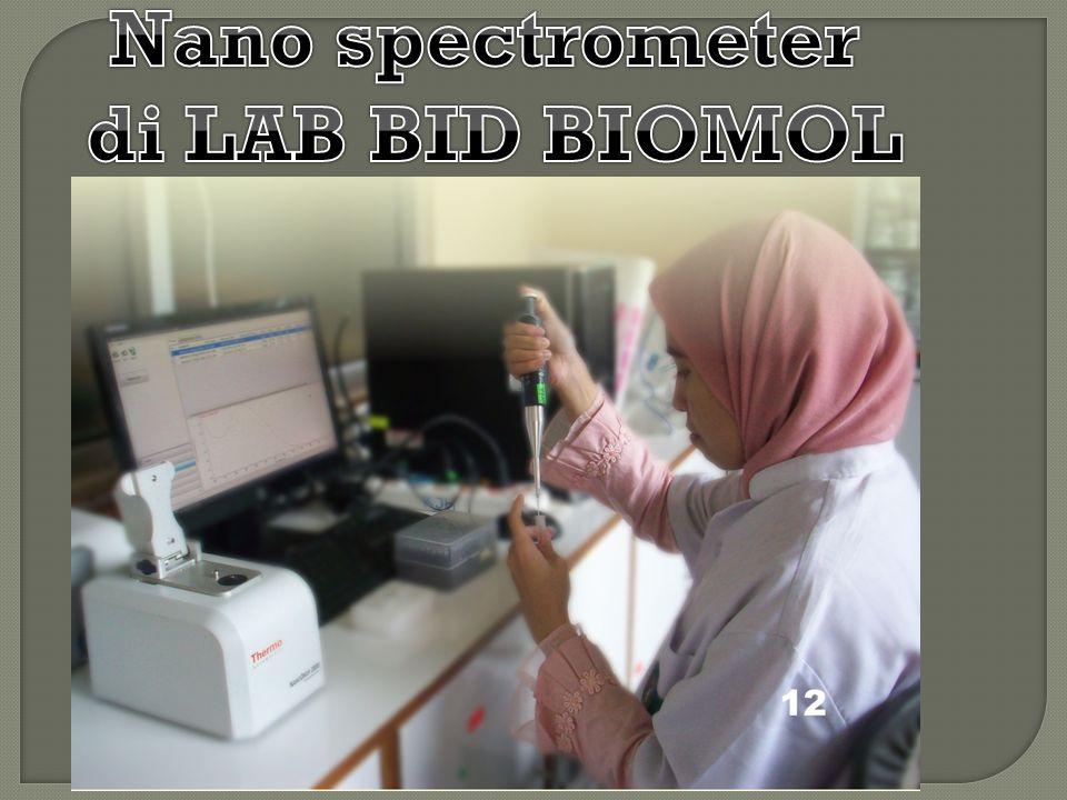 Nano spectrometer di LAB BID BIOMOL
