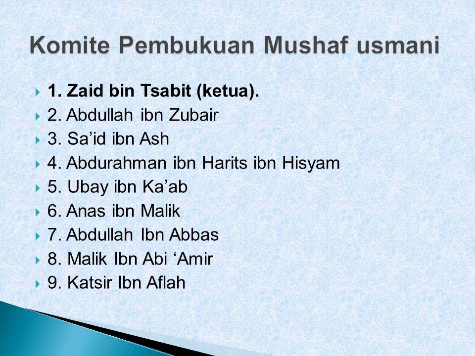 Komite Pembukuan Mushaf usmani