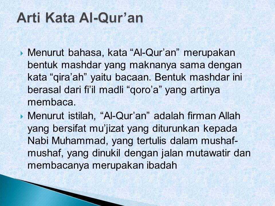 Arti Kata Al-Qur'an