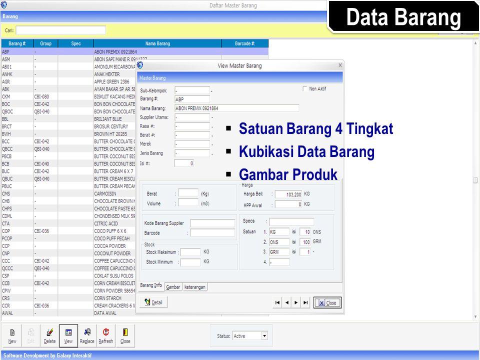 Data Barang Satuan Barang 4 Tingkat Kubikasi Data Barang Gambar Produk