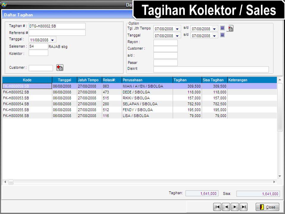 Tagihan Kolektor / Sales
