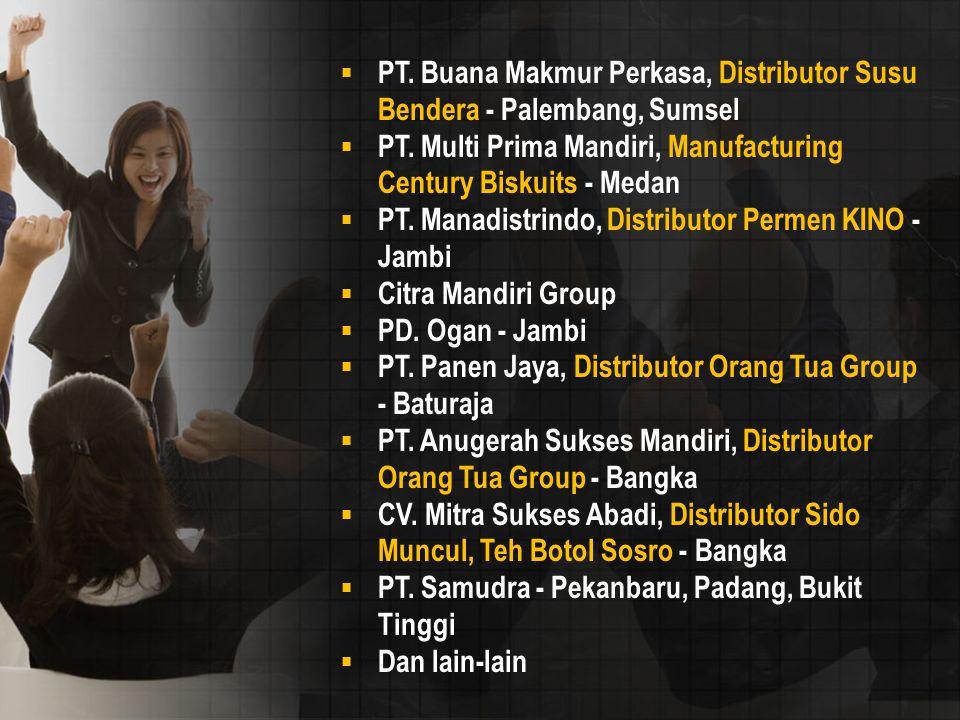 PT. Buana Makmur Perkasa, Distributor Susu Bendera - Palembang, Sumsel