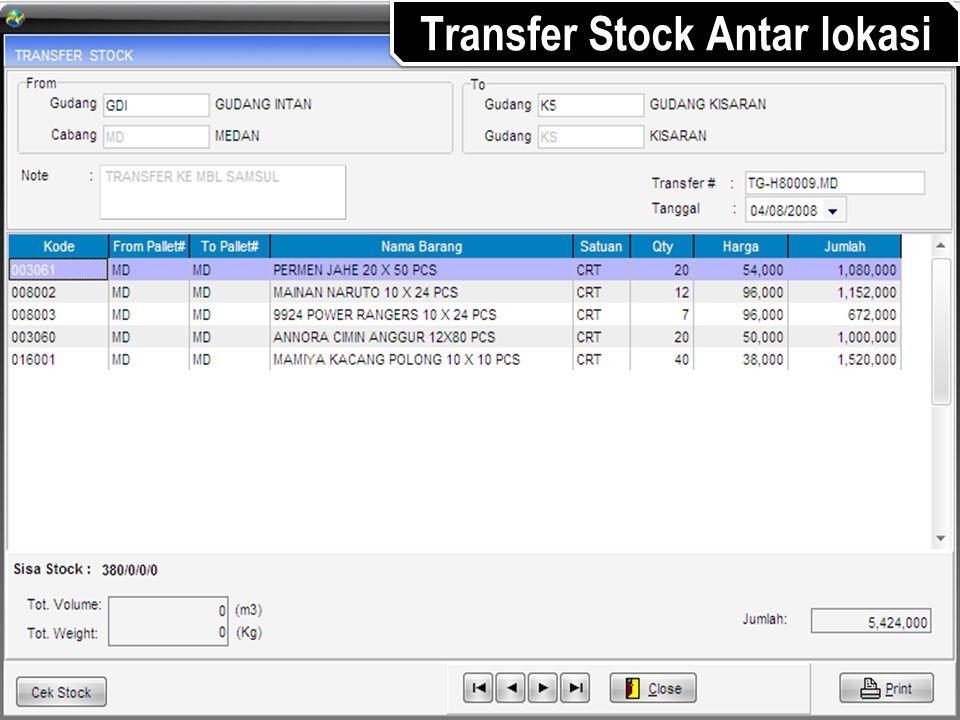 Transfer Stock Antar lokasi