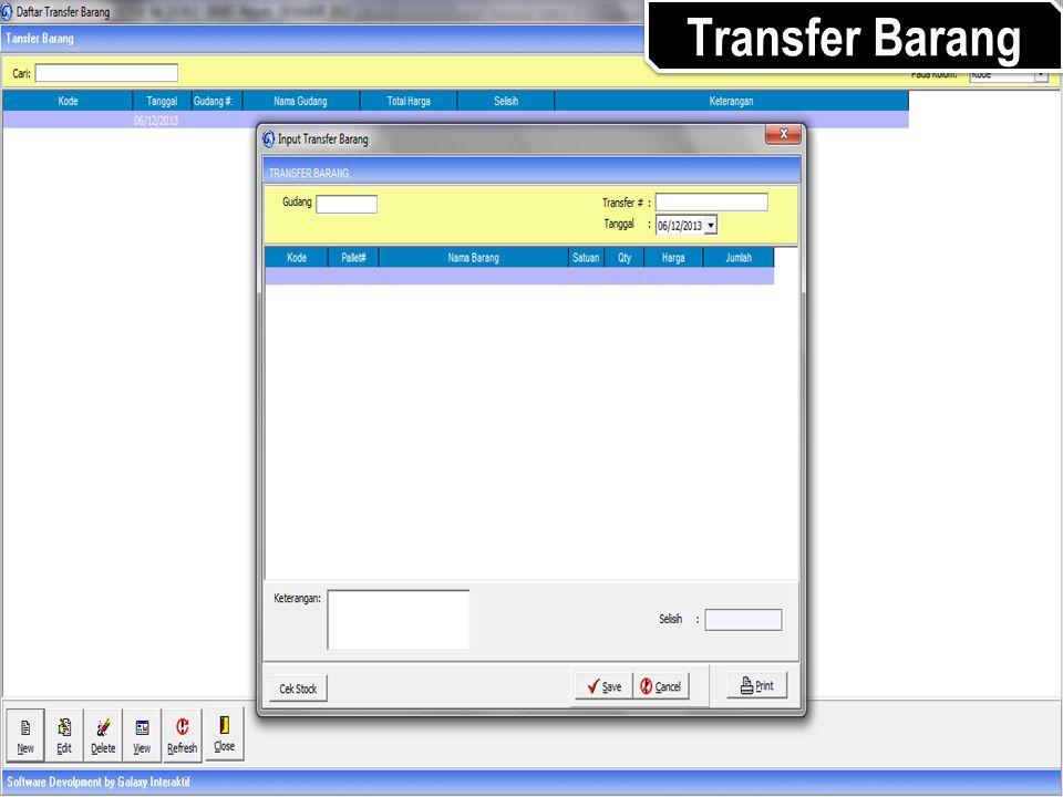 Transfer Barang