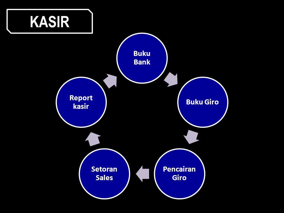KASIR Buku Bank Buku Giro Pencairan Giro Setoran Sales Report kasir