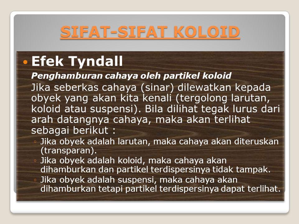 SIFAT-SIFAT KOLOID Efek Tyndall