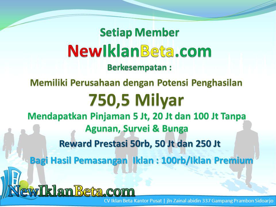 Setiap Member NewIklanBeta.com Berkesempatan :