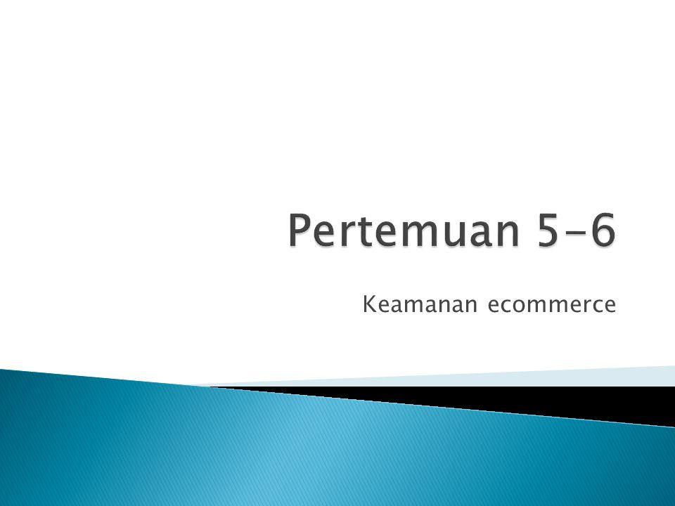 Pertemuan 5-6 Keamanan ecommerce