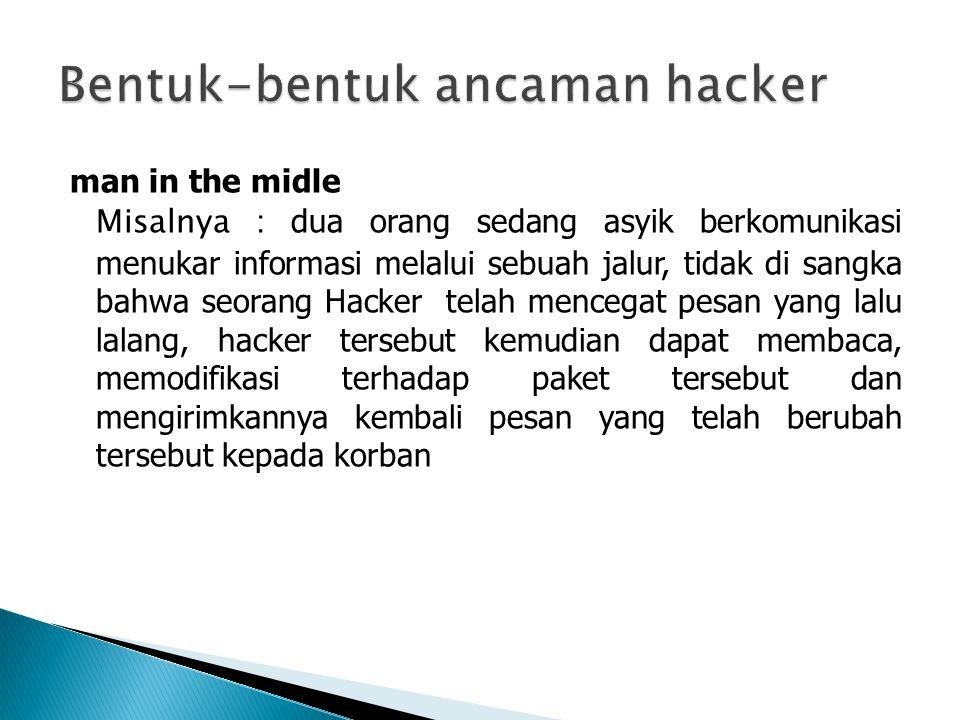 Bentuk-bentuk ancaman hacker
