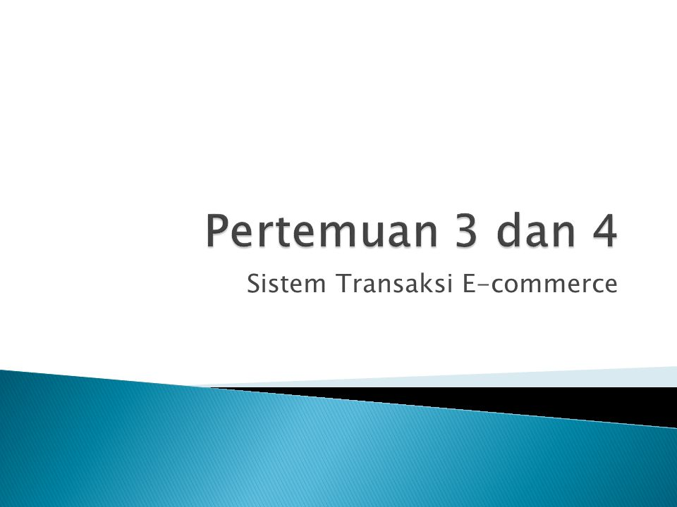 Sistem Transaksi E-commerce