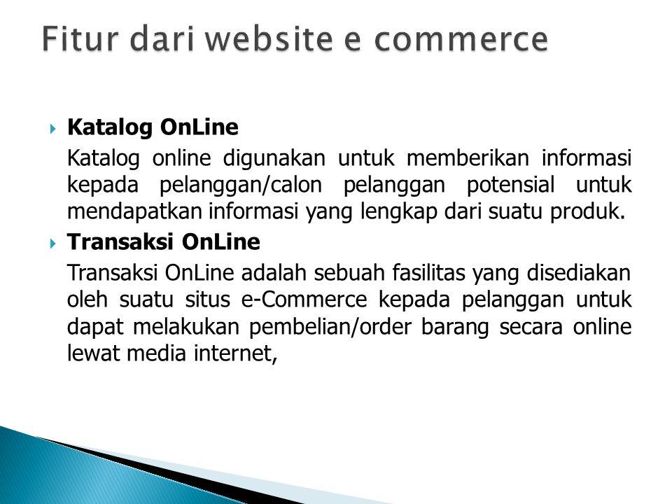 Fitur dari website e commerce