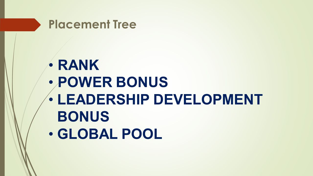 LEADERSHIP DEVELOPMENT BONUS GLOBAL POOL