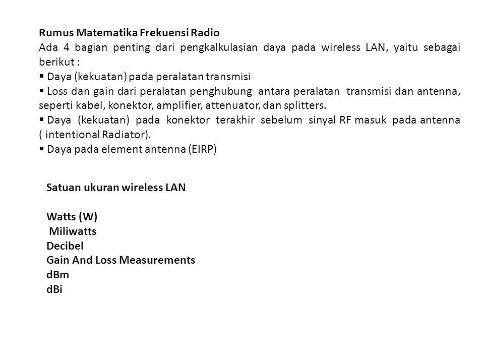 Rumus Matematika Frekuensi Radio