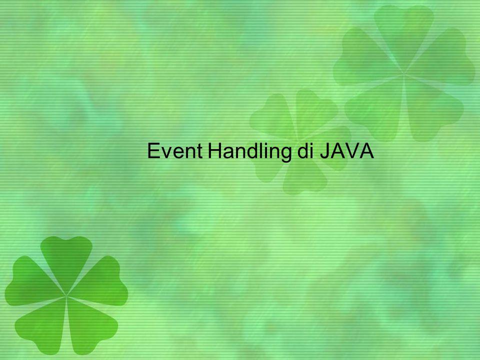 Event Handling di JAVA