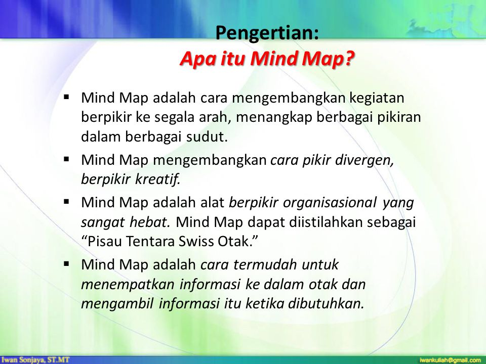 Pengertian: Apa itu Mind Map
