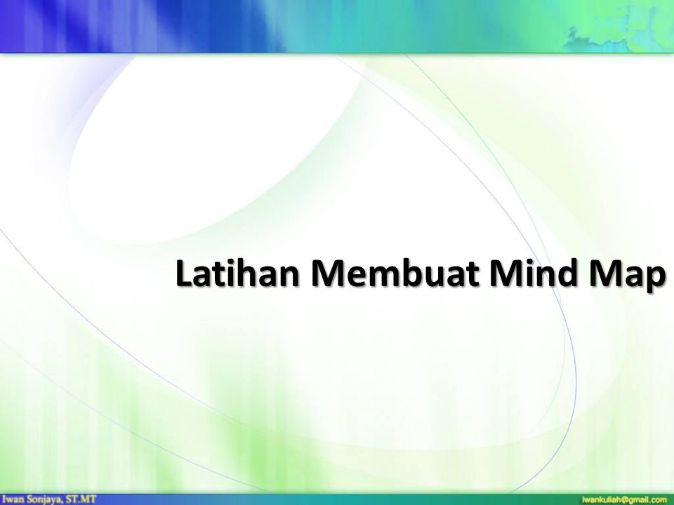 Latihan Membuat Mind Map