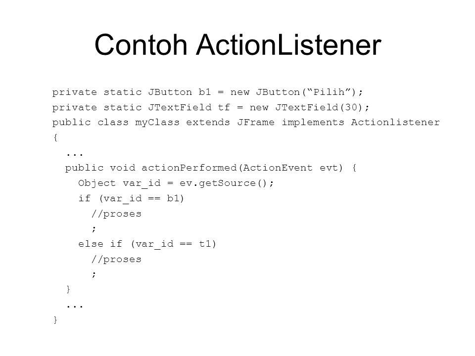 Contoh ActionListener