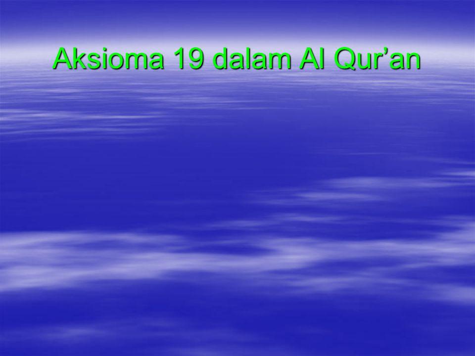 Aksioma 19 dalam Al Qur'an