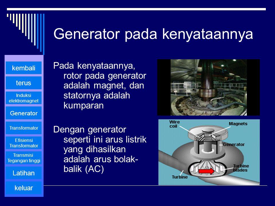 Generator pada kenyataannya