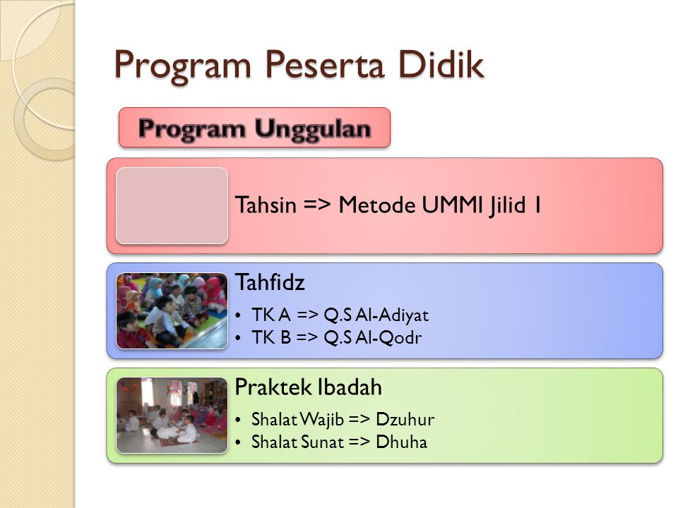 Program Peserta Didik Program Unggulan
