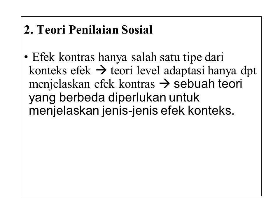 2. Teori Penilaian Sosial